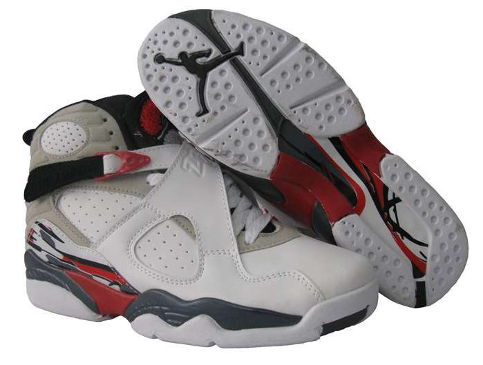 Womens Air Jordan 8 Retro White True Red Black