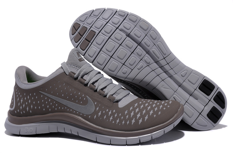Women Nike Free Run+ 3 All Grey Shoes