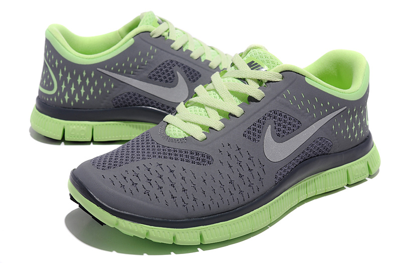 Nike Free 3.0 v4 Mens Running Shoes Silver Grey