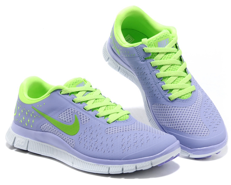 Women Nike Free Run 4.0 V2 Grey Green Shoes