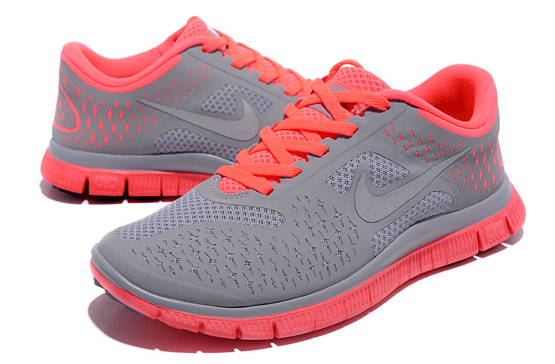 Women Nike Free Run 4.0 V2 Grey Orange Shoes