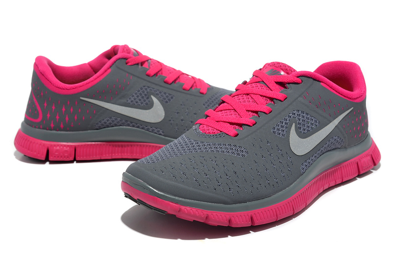 Women Nike Free Run 4.0 V2 Grey Pink Shoes