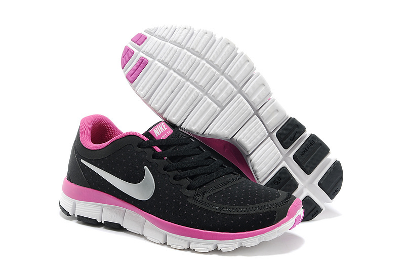 Womens Nike Free Run 5.0 V4 Black Peach White Shoes