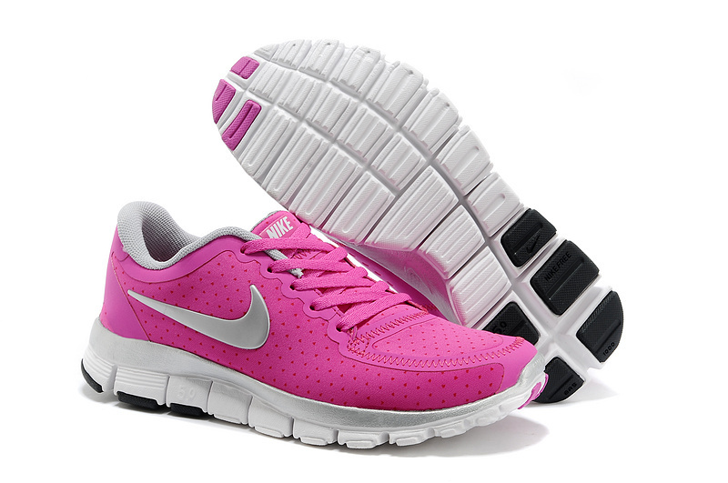 Womens Nike Free Run 5.0 V4 Pink White Shoes