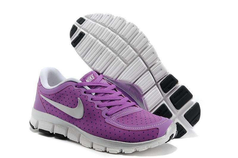 Womens Nike Free Run 5.0 V4 Purple Silver Shoes