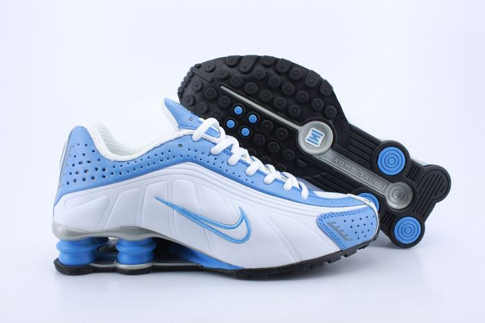 Women Shox Blue White Shoes