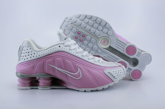 Women Shox Pink White Shoes