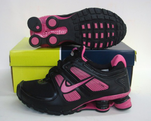 Women Shox Turbo Black Red Shoes