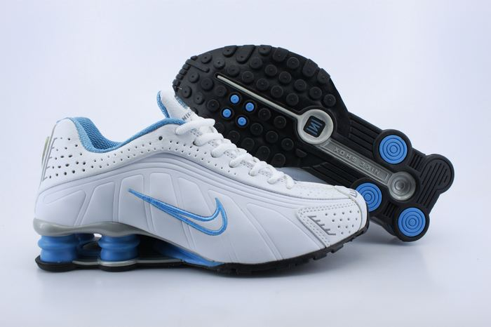 Women Shox White Blue Shoes