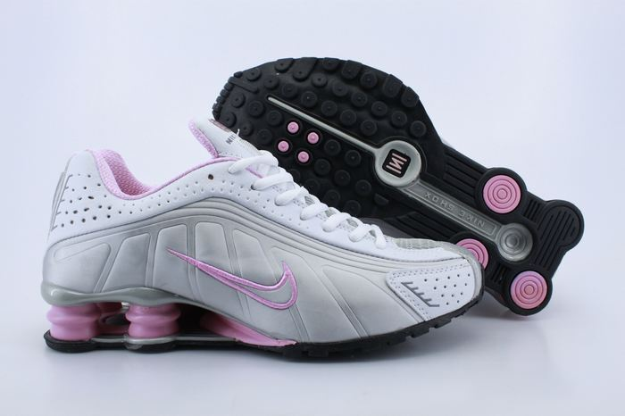 Women Shox White Grey Pink Shoes