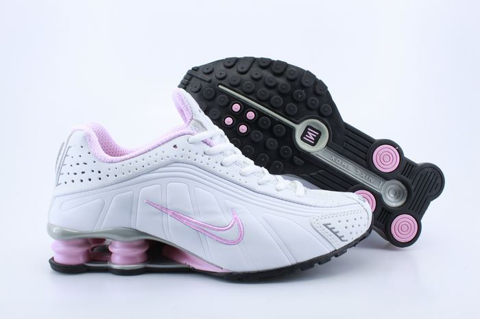 Women Shox White Pink Air Cushion Shoes