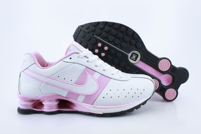 Women Shox White Pink Shoes