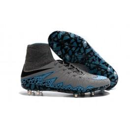 mens nike hypervenom phantom 2 fg soccer shoes acc grey blue black