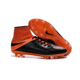 mens nike hypervenom phantom 2 fg soccer shoes acc leather black total orange
