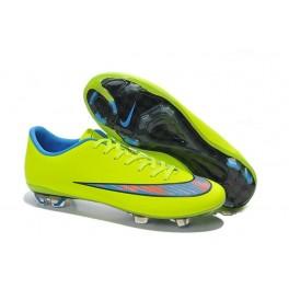 new nike mercurial vapor x fg soccer shoes green blue