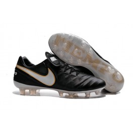 nike cleats boots nike tiempo legend 6 fg black white gold
