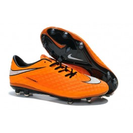 nike hypervenom phantom fg mens football boots soccer cleats firm ground orange black white