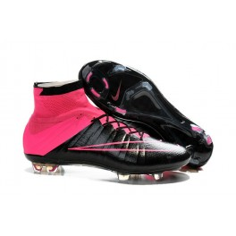 nike mercurial superfly fg soccer cleats shoes black hyper pink