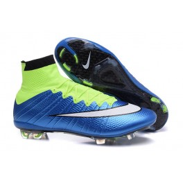 nike mercurial superfly fg soccer cleats shoes blue lagoon white volt black
