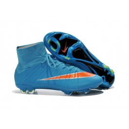 nike mercurial superfly fg soccer cleats shoes blue orange