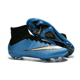 nike mercurial superfly fg soccer cleats shoes blue white black