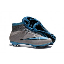 nike mercurial superfly fg soccer cleats shoes grey blue black