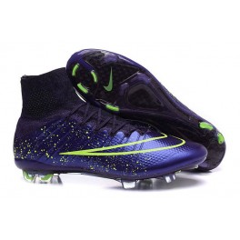 nike mercurial superfly fg soccer cleats shoes leather fg power clash green purple