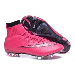 nike new mercurial superfly fg men s firm ground soccer boots black pink