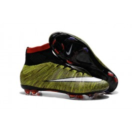 nike new mercurial superfly fg men s firm ground soccer boots volt red black white