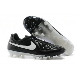 nike tiempo legend v fg firm ground soccer shoes black white