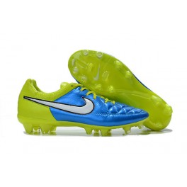 nike tiempo legend v fg firm ground soccer shoes blue white black volt