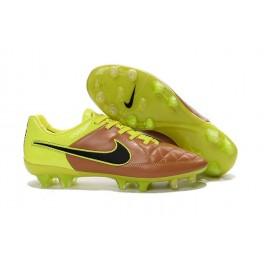 nike tiempo legend v fg firm ground soccer shoes canvas black volt