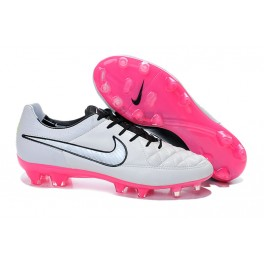nike tiempo legend v fg firm ground soccer shoes white black pink