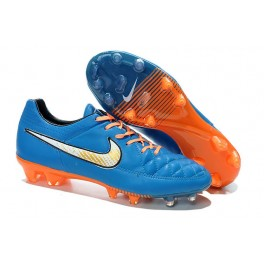 nike tiempo legend v fg men's firm ground soccer cleat blue orange