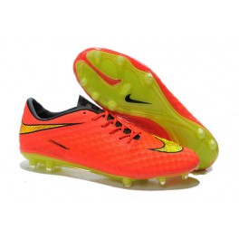 soccer boots nike hypervenom phantom fg red yellow golden