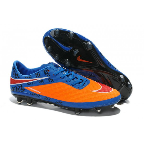 soccer boots nike hypervenom phantom fg reflective pack blue orange red